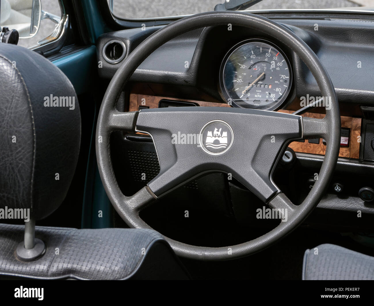 1979 VW Beetle convertible - Stock Image