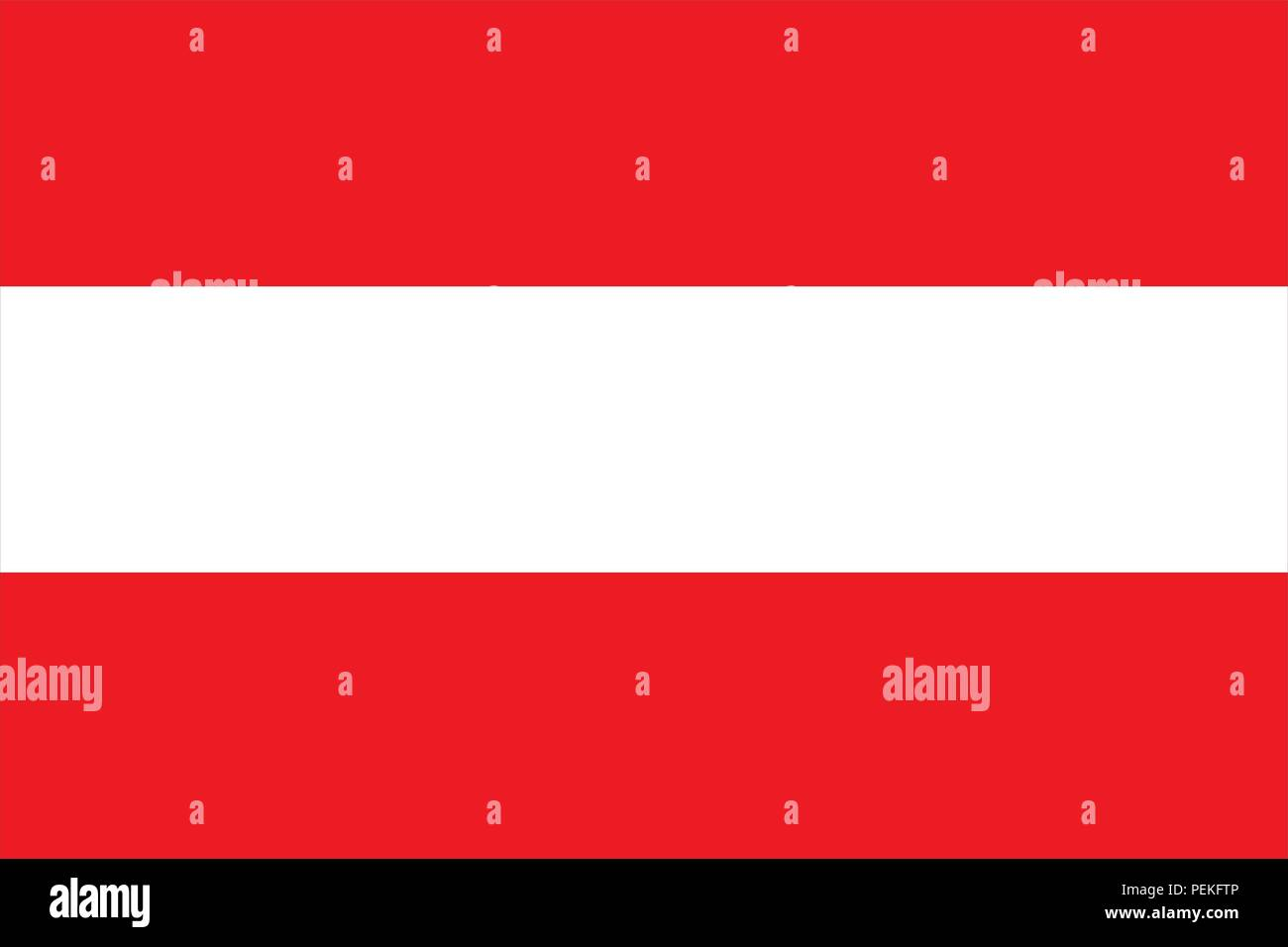Flag of Austria Flagge Österreichs triband red white red Stock Vector