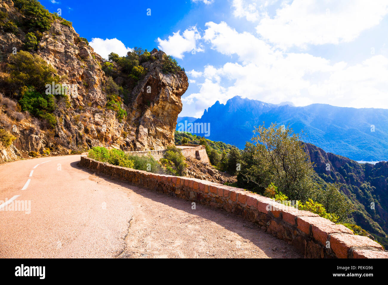 Impressive mountains in Corsica,panoramic view,France - Stock Image
