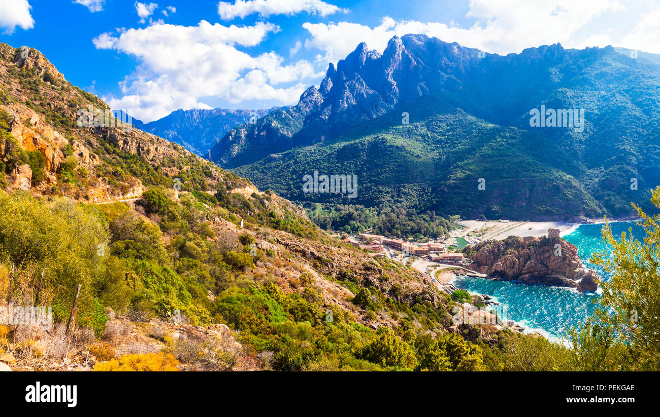 Incredible nature in Corsica island,France - Stock Image