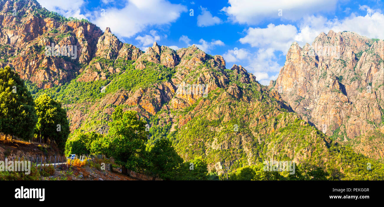 Impressive Mountains in Corsica island,France. - Stock Image