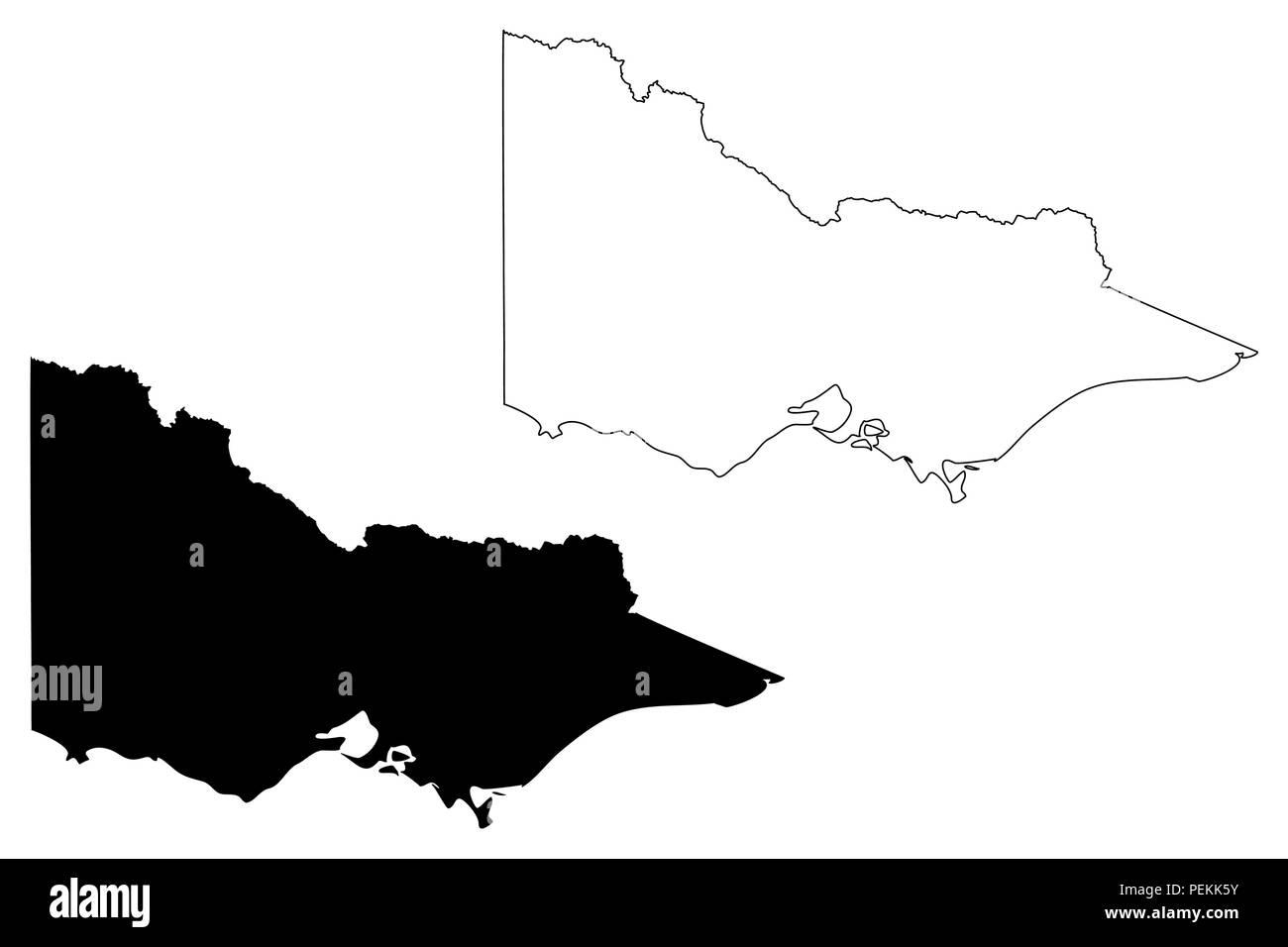 Australia Map Vector With States.Victoria Australian States And Territories Vic Map Vector