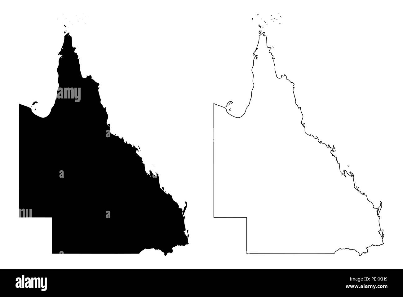 Queensland Australian States And Territories Qld Map Vector