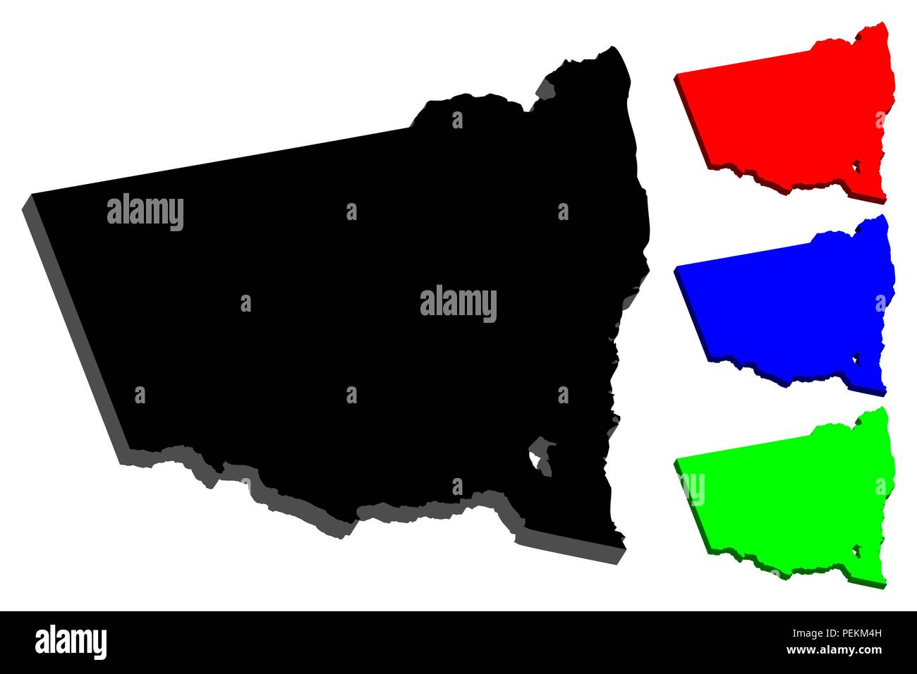 3d Map Of South Australia.3d Map Of New South Wales Australian States And Territories Nsw