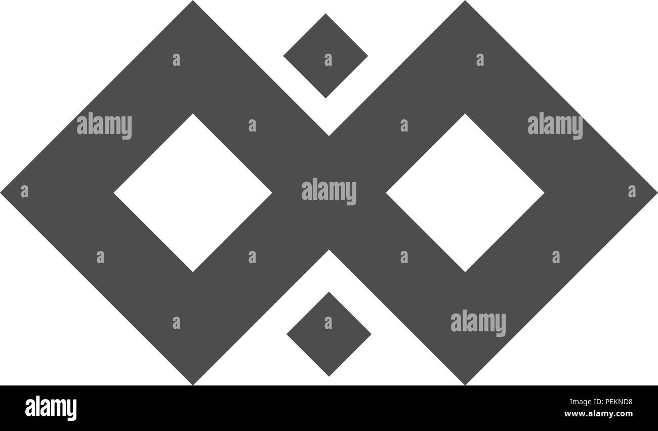 Infinity vector symbol loop. Figure 8 icon, eternity logo sign in original design, forever eternity knot, number 8 inverted in flat style. - Stock Image