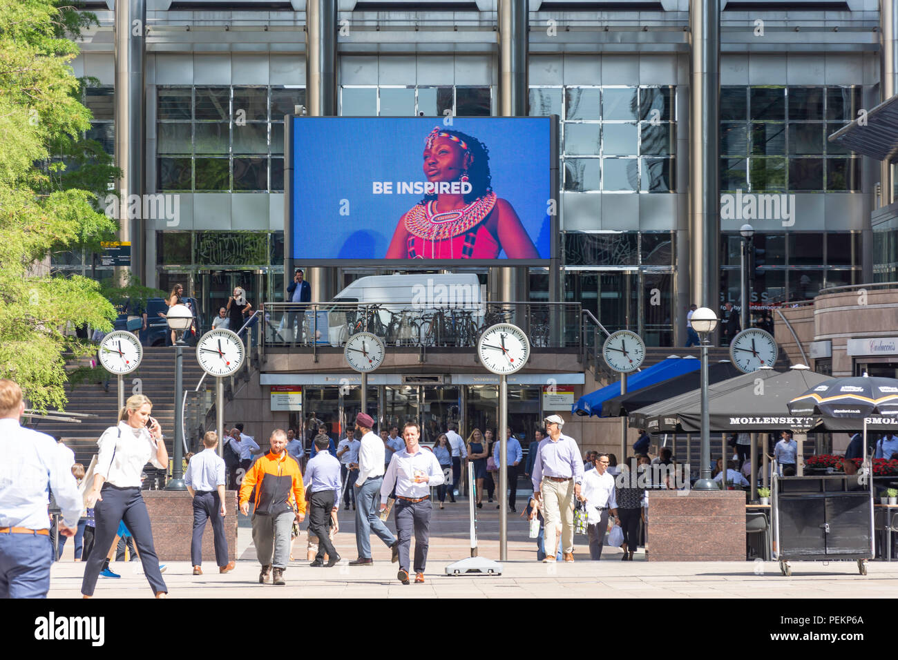 Reuters Plaza, Canary Wharf, London Borough of Tower Hamlets, London, Greater London, England, United Kingdom - Stock Image