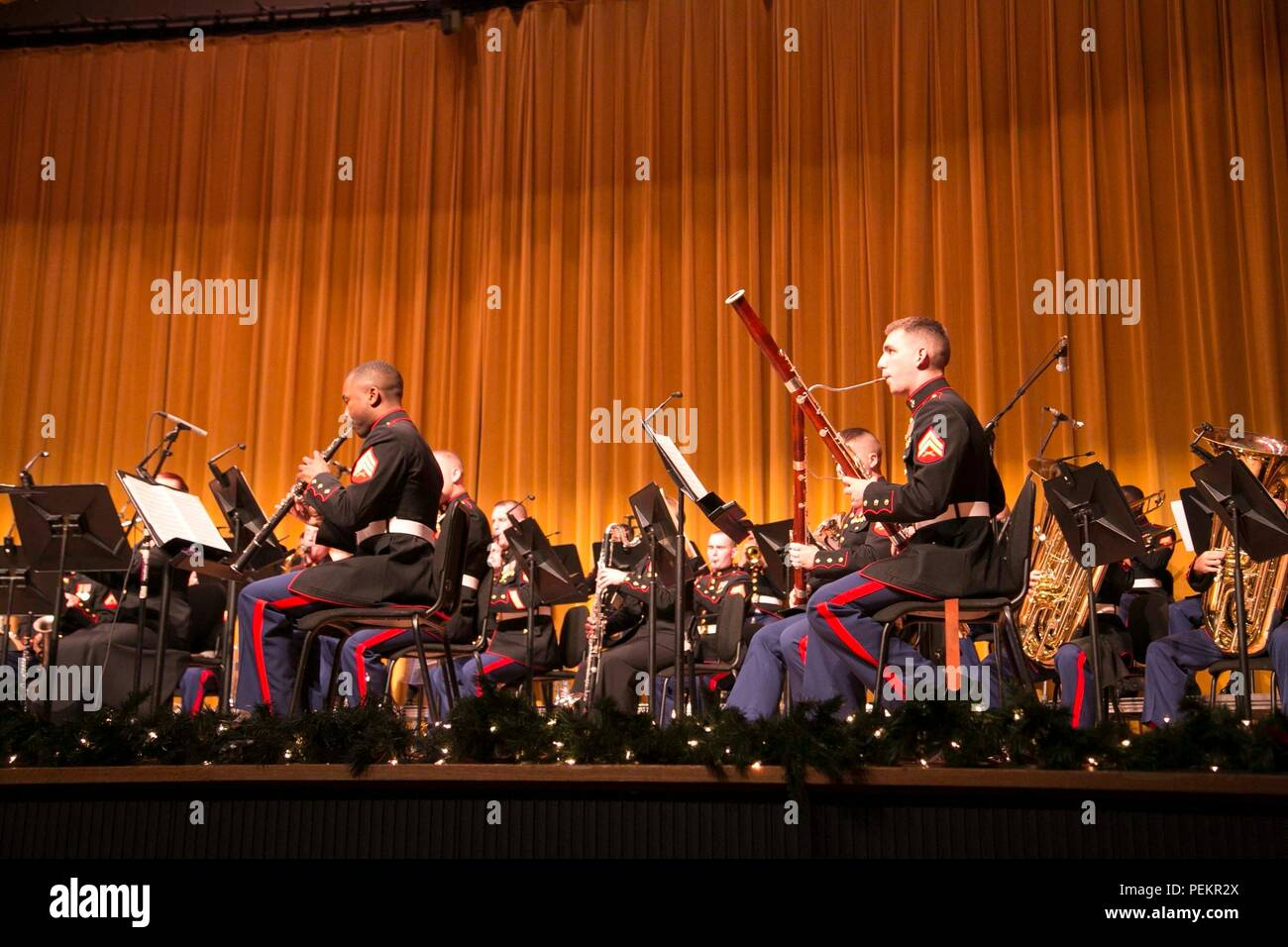 The Iii Marine Expeditionary Force Band Performs A Christmas Concert