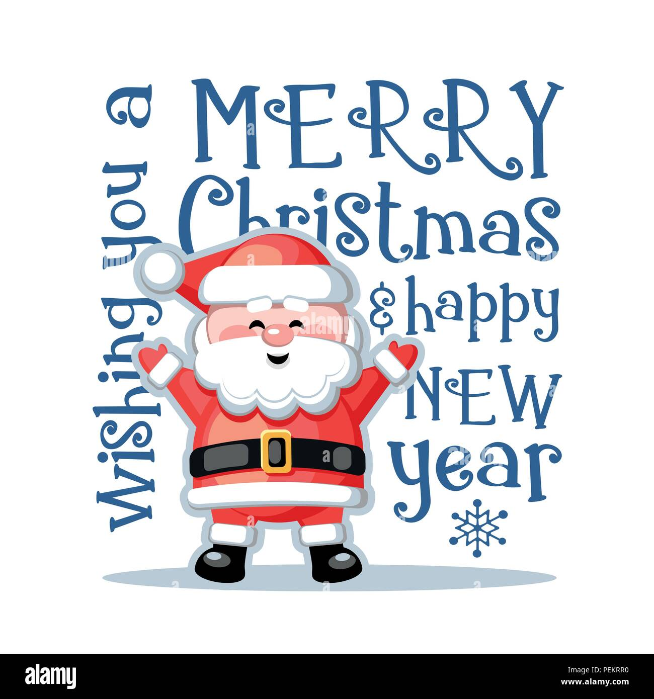 Merry Christmas Funny Images.Merry Christmas And Happy New Year Greeting Card With Funny