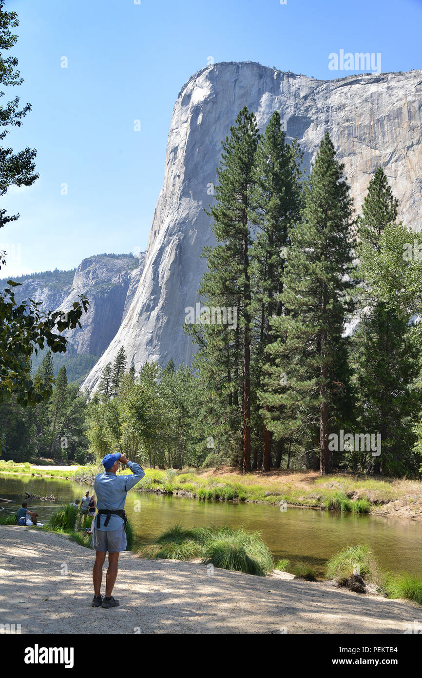 USA, California,  Yosemite Valley  in the Yosemite National Park Stock Photo