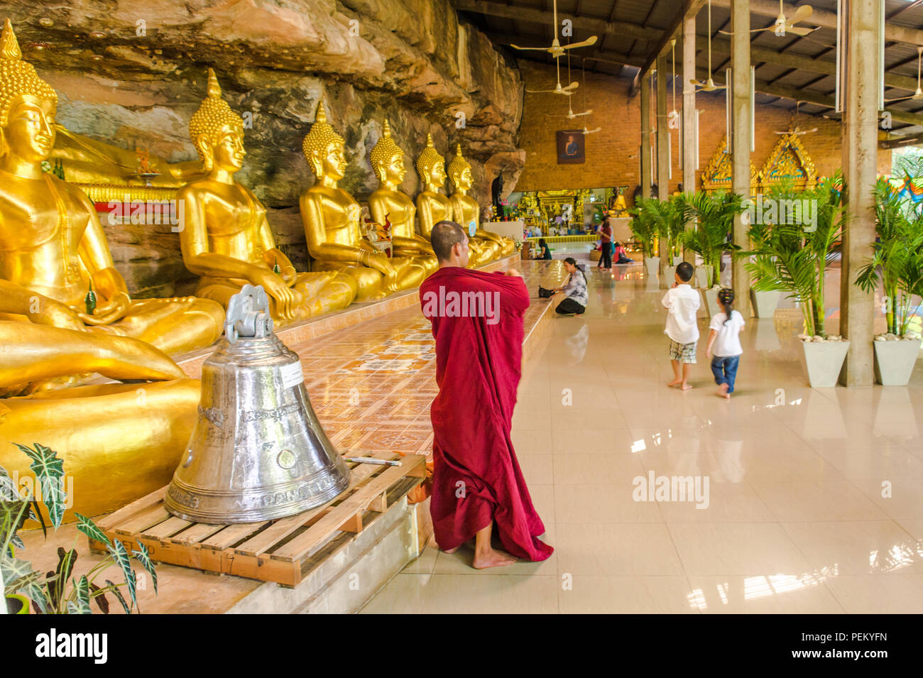 Temple in Ubon Ratchathani province, Northeast (Isan) Region, Thailand - Stock Image