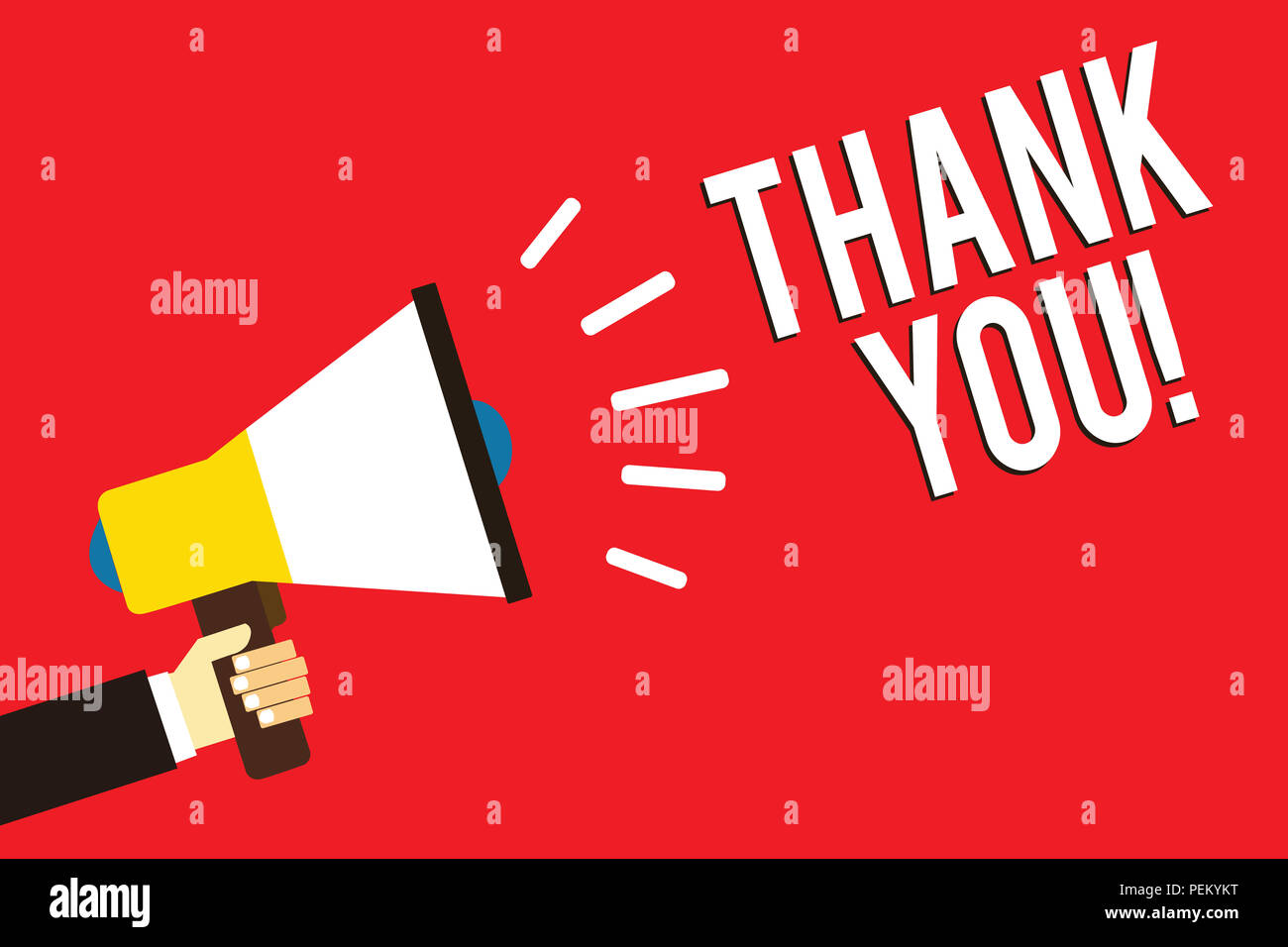 Word Writing Text Thank You Business Concept For Replaying On