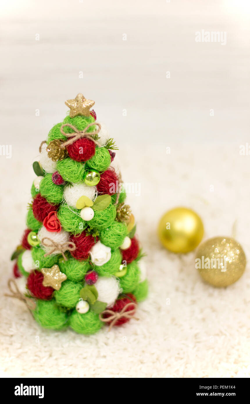 Christmas tree, decorative Christmas tree. New Year and