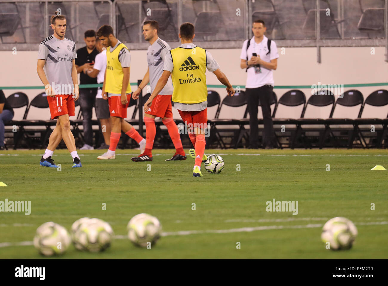 c964c8d51 Team Real Madrid during warm up before the 2018 International Champions Cup  match against Roma at
