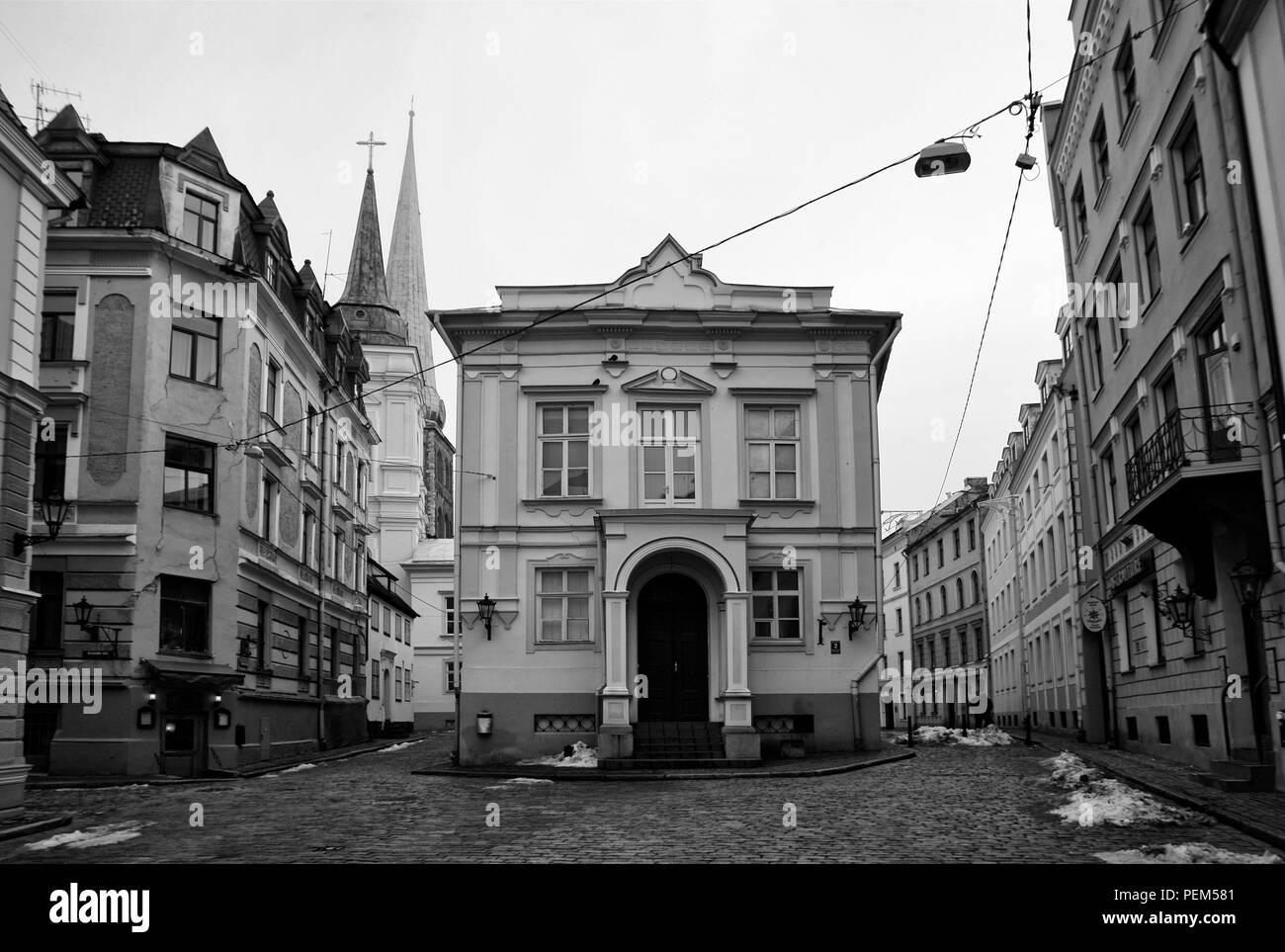 Streets of Riga - Stock Image