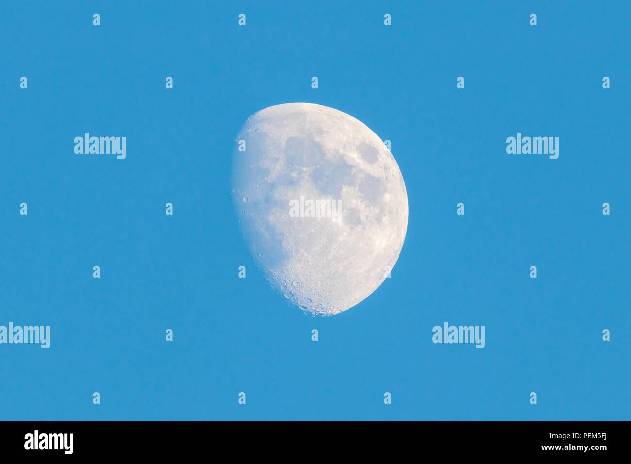 Moon from the Paris sky - Stock Image