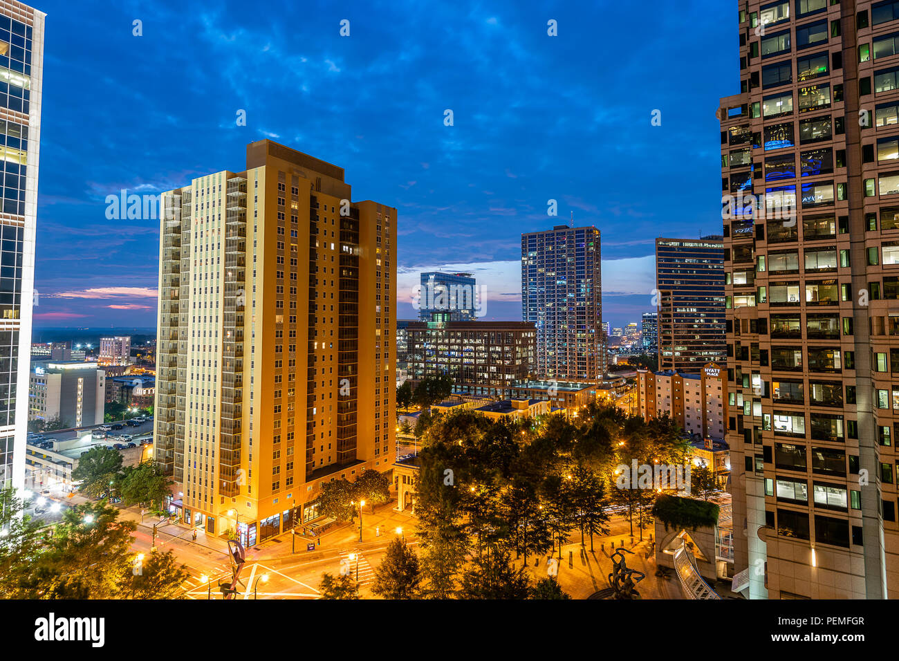 Atlanta, Georgia Skyline - Stock Image