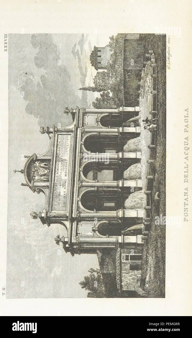 Historic archive Image taken from page 349 of 'Rome, ancient and modern, and its environs' - Stock Image