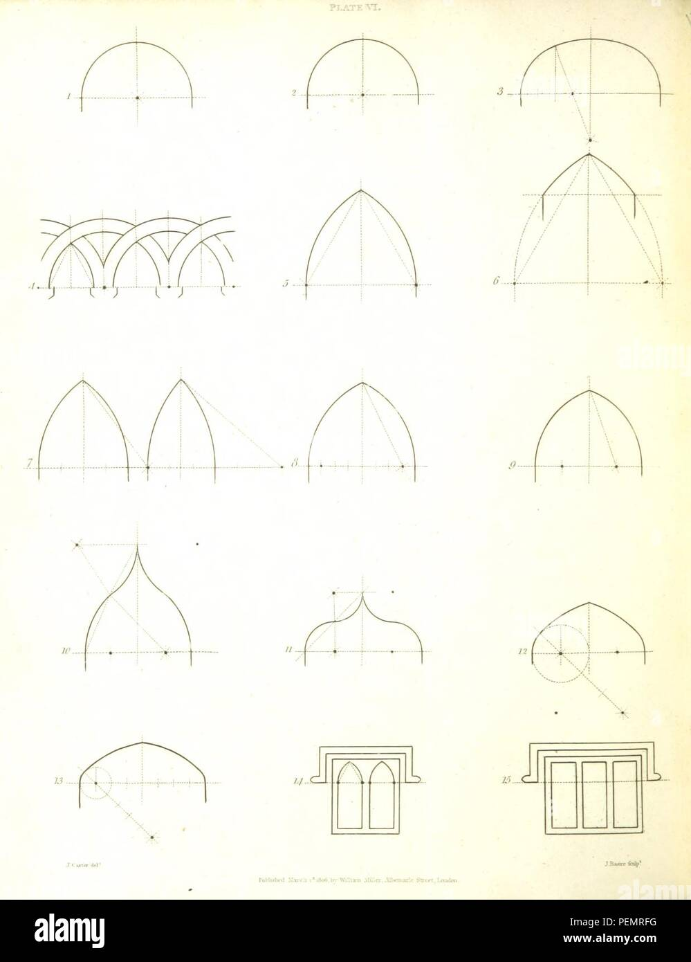 page 162 of 'Introduction to the History of Cambria, from the first invasion of Britain by the Romans to ... 1188, etc. [By Sir R. C. Hoare, Bart.] Progress of Architecture from a period nearly coeval with the Con 0436. - Stock Image
