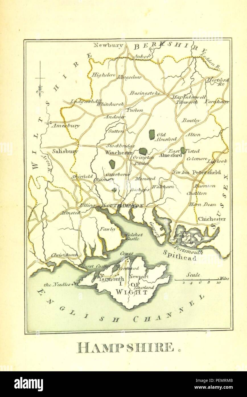Map Of England To Colour.Page 173 Of The Picture Of England Illustrated With Colour D Maps