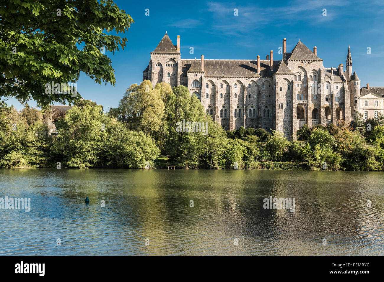 Solesmes Abbey, Sarthe France - Stock Image