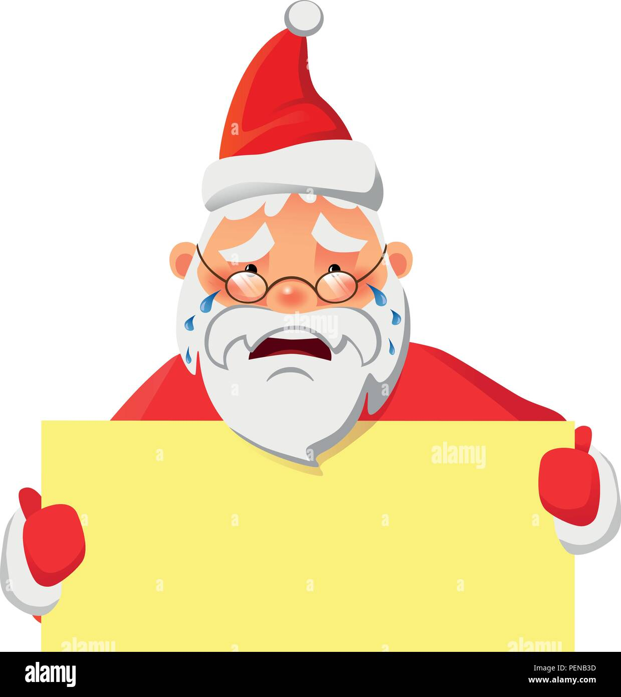 Santa Claus holding banner with space for your text. Santa Claus vector illustration - Stock Vector