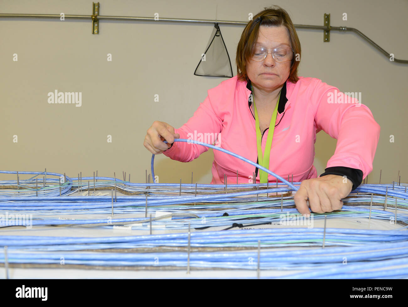 Wiring Harness Stock Photos Images Alamy Suppliers India Robin Guy 569th Electronics Maintenance Squadron Mechanic Assembles An F 15 Sniper