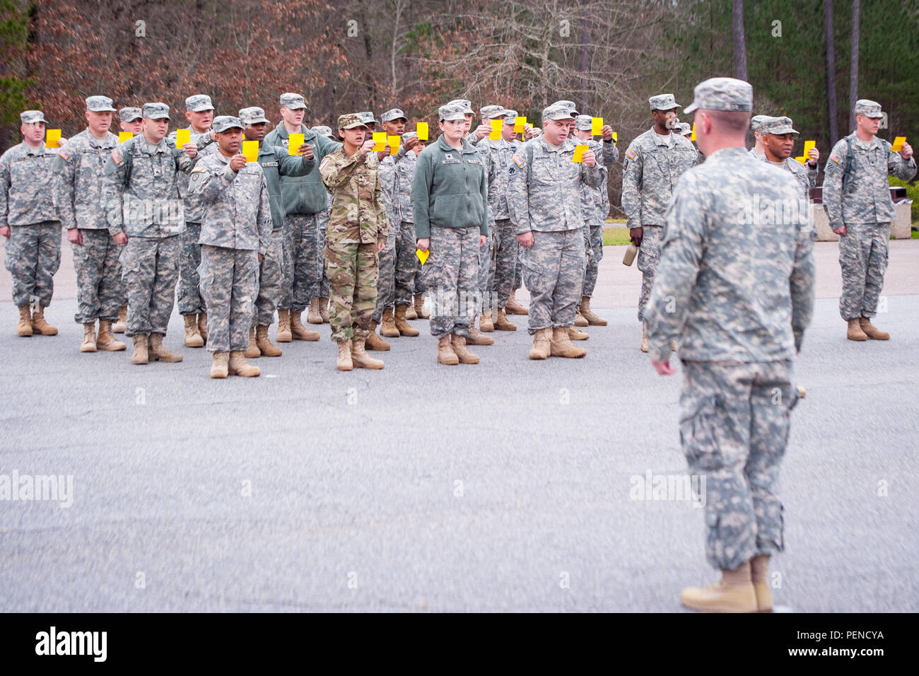 Soldiers recite the Creed of the Noncommissioned Officer in