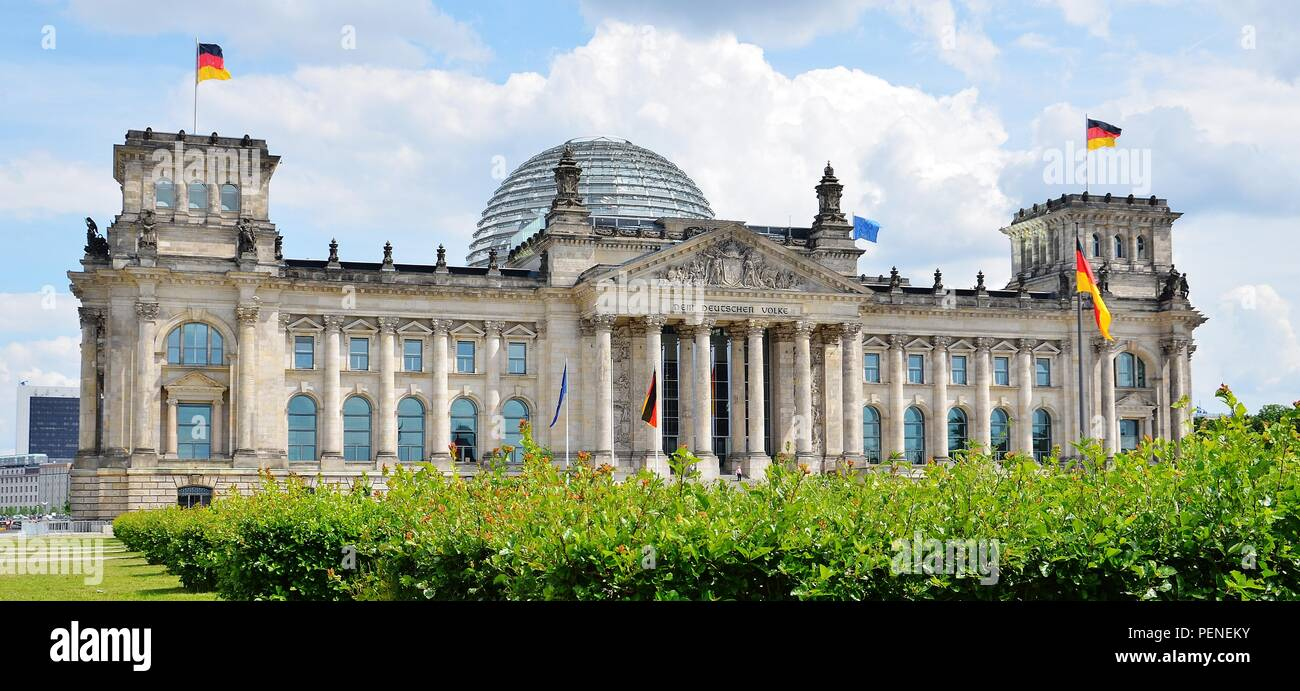 Reichstag building in Berlin, Germany - Stock Image