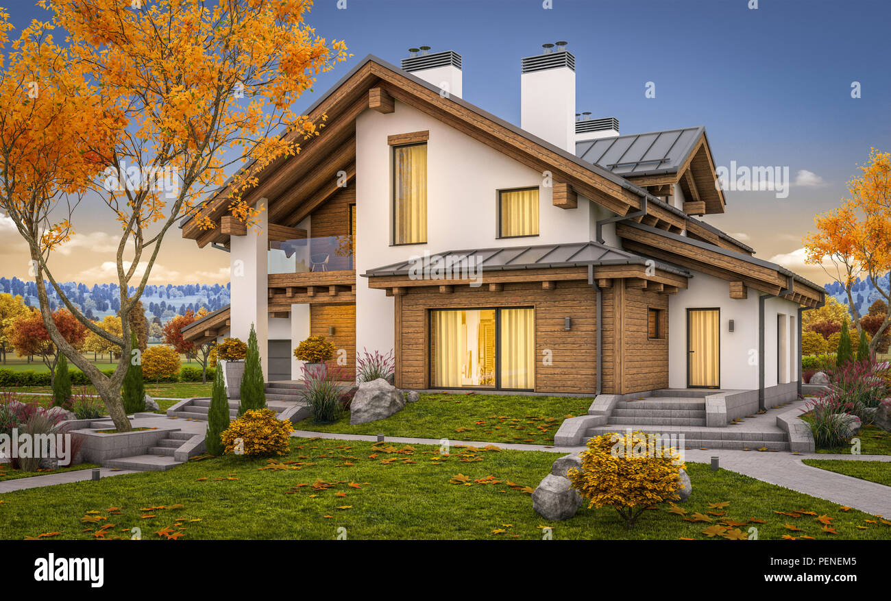 Chalet style stock photos chalet style stock images alamy for Chalet style homes for sale