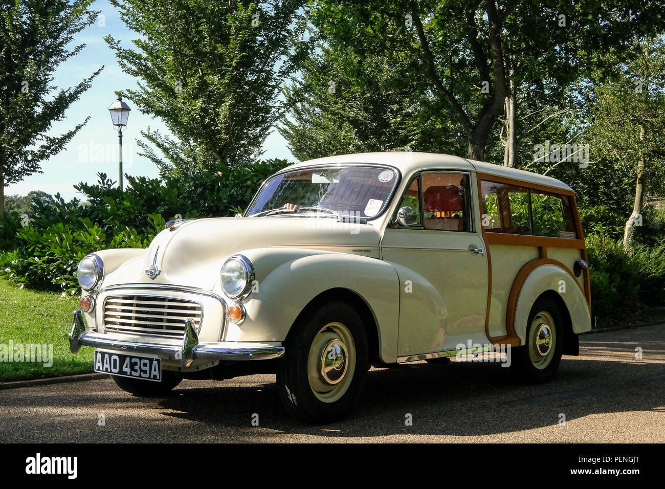 A Classic early 1970s Morris Minor Traveller Estate - Stock Image
