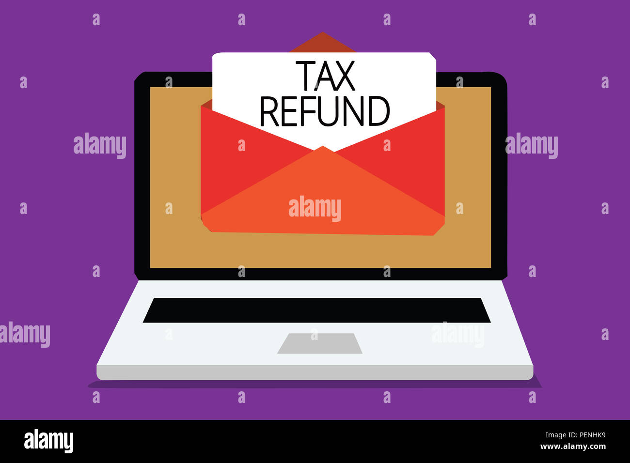 Handwriting text writing Tax Refund  Concept meaning applied when