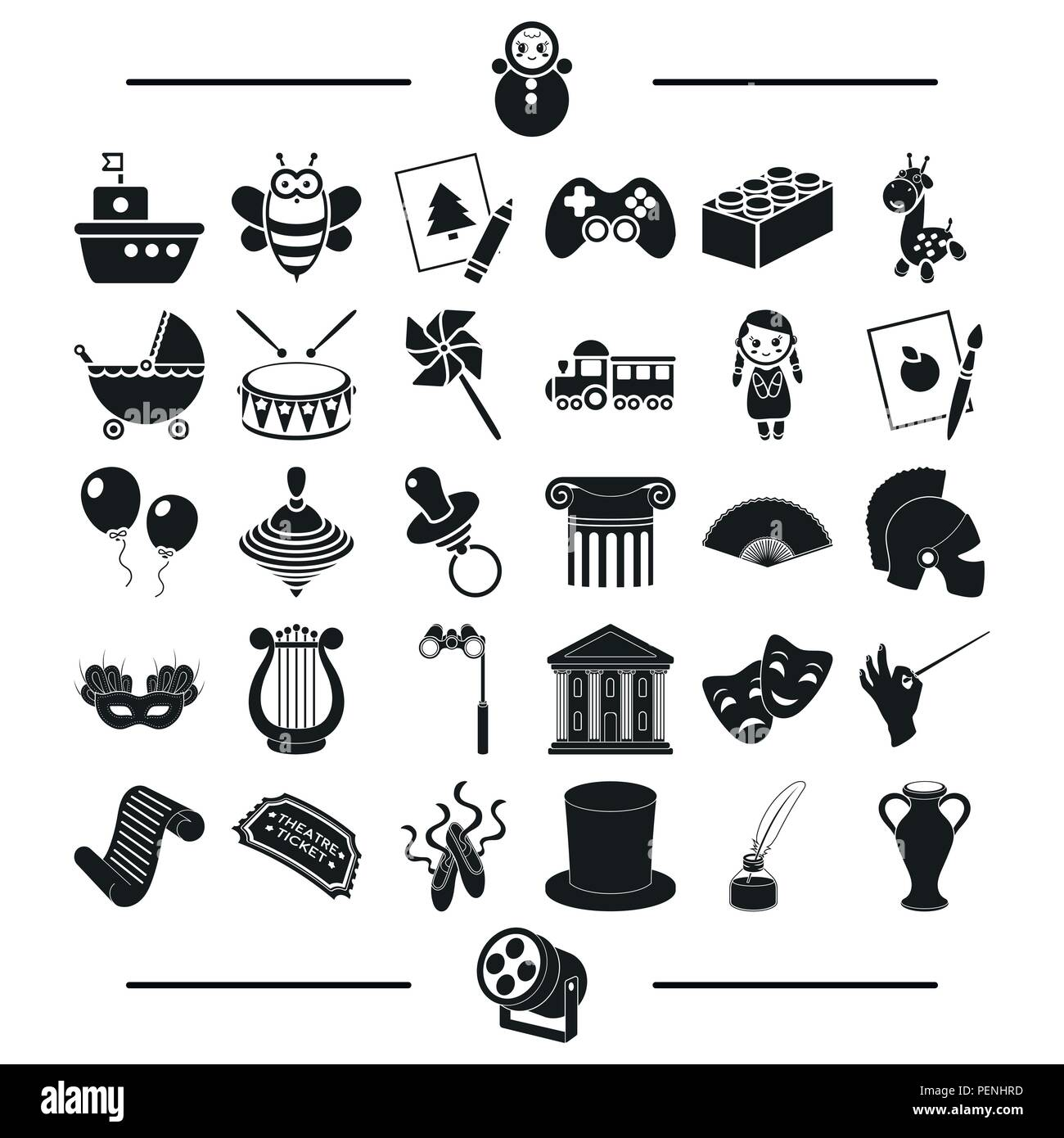 Music Concert Circus And Other Icon In Black Style Entertainment Leisure Hobbies Icons In Set Collection Stock Vector Image Art Alamy
