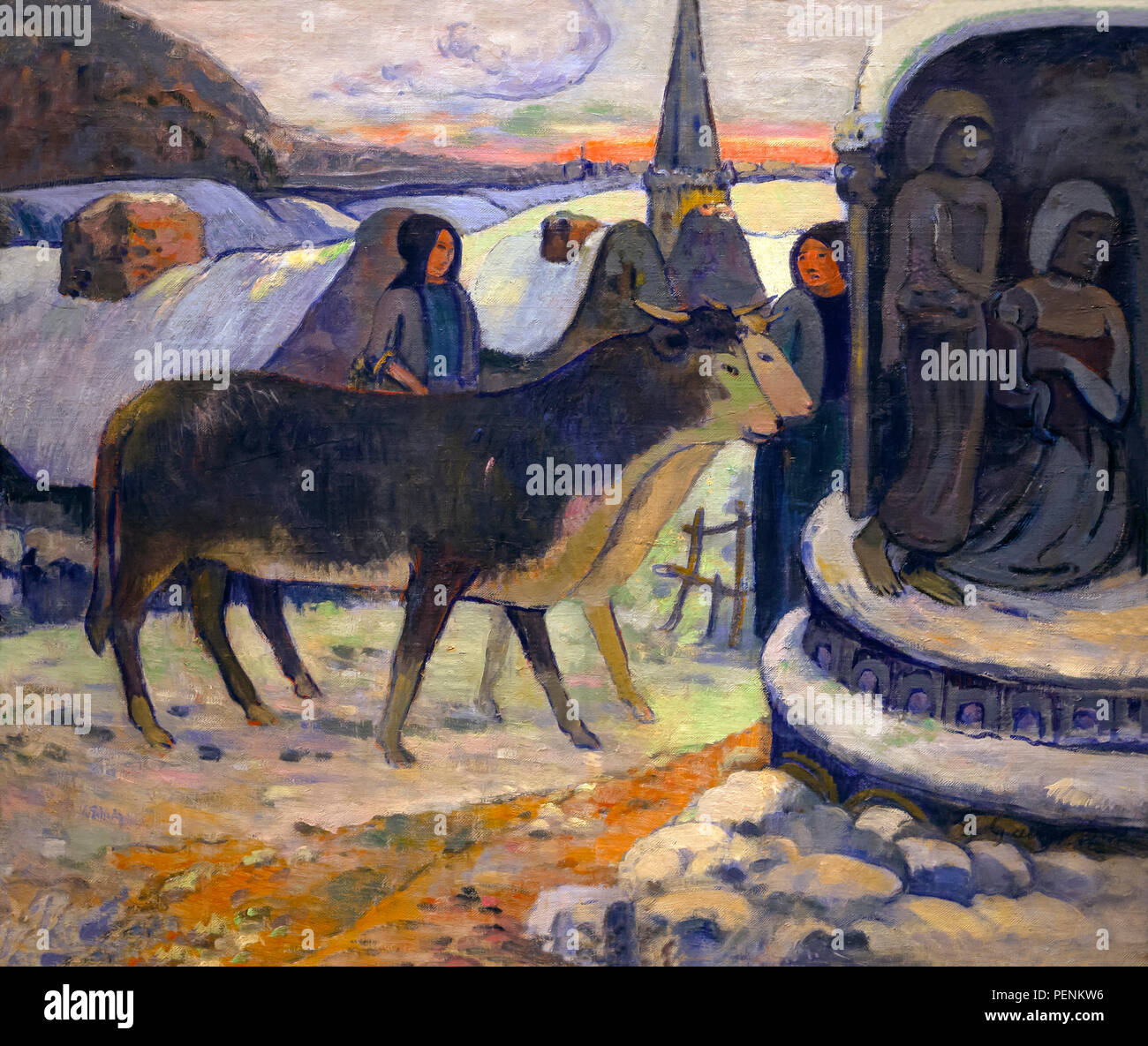 Christmas Night, The Blessing of the Oxen, Paul Gauguin, circa 1894, Indianapolis Museum of Art, Indianapolis, Indiana, USA, North America - Stock Image