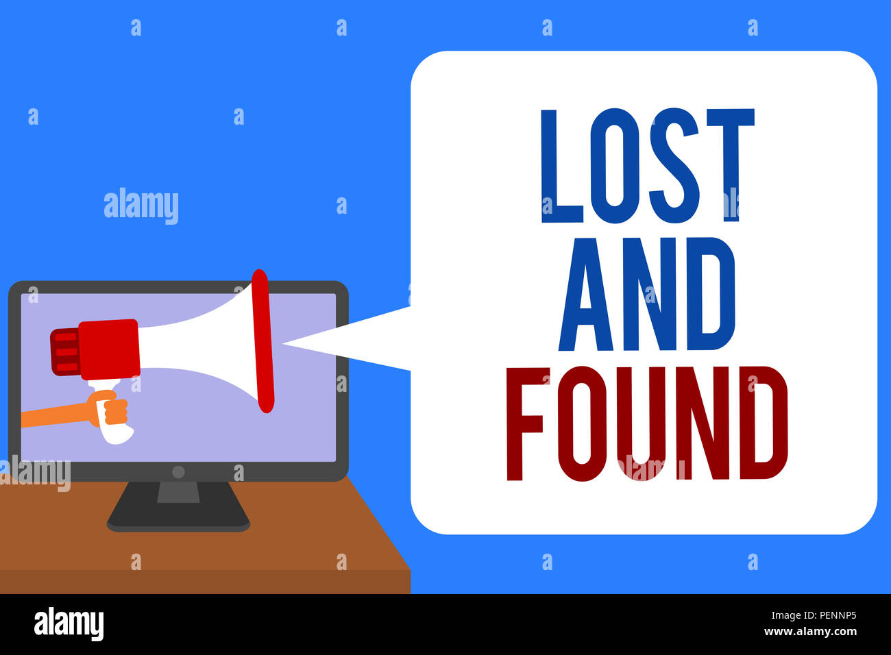text sign showing lost and found conceptual photo place where you