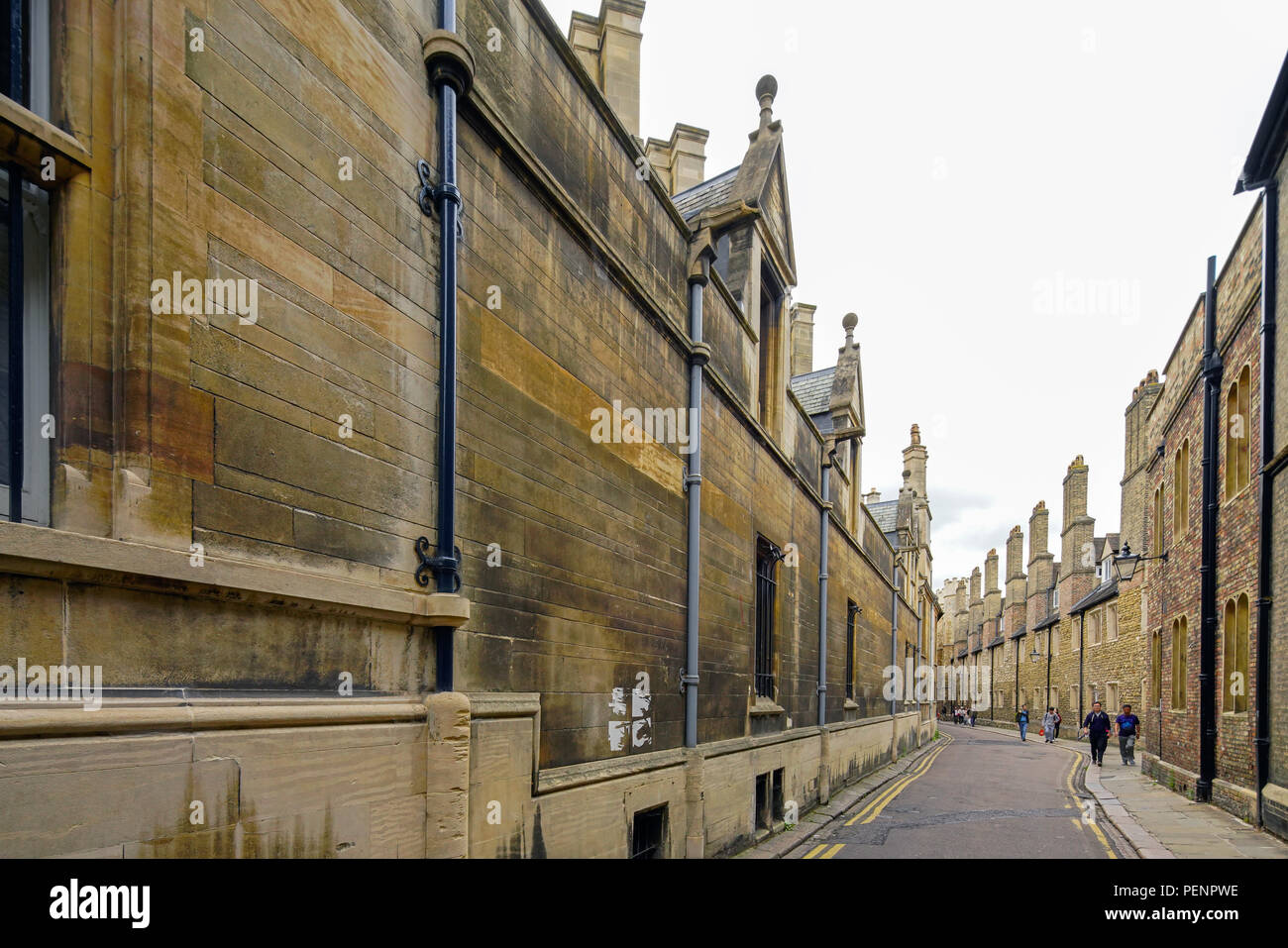 Gonville & Caius College and Trinity college from Trinity Lane, Cambridge, England, U.K. - Stock Image