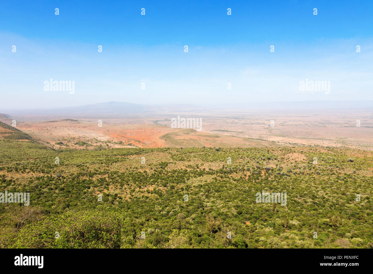 View of the Rift Valley in Kenya Stock Photo