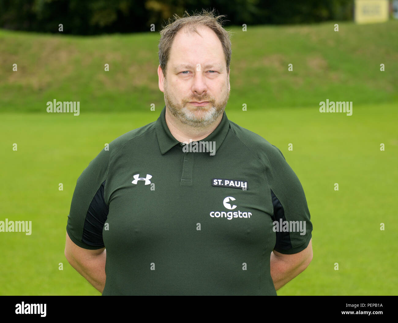 Hamburg, Germany. 05th July, 2018. 2nd German Bundesliga, official photocall FC St. Pauli for season 2018/19 in Hamburg, Germany: kitman Andreas Kreft ; Credit: Axel Heimken/dpa | usage worldwide/dpa/Alamy Live News - Stock Image