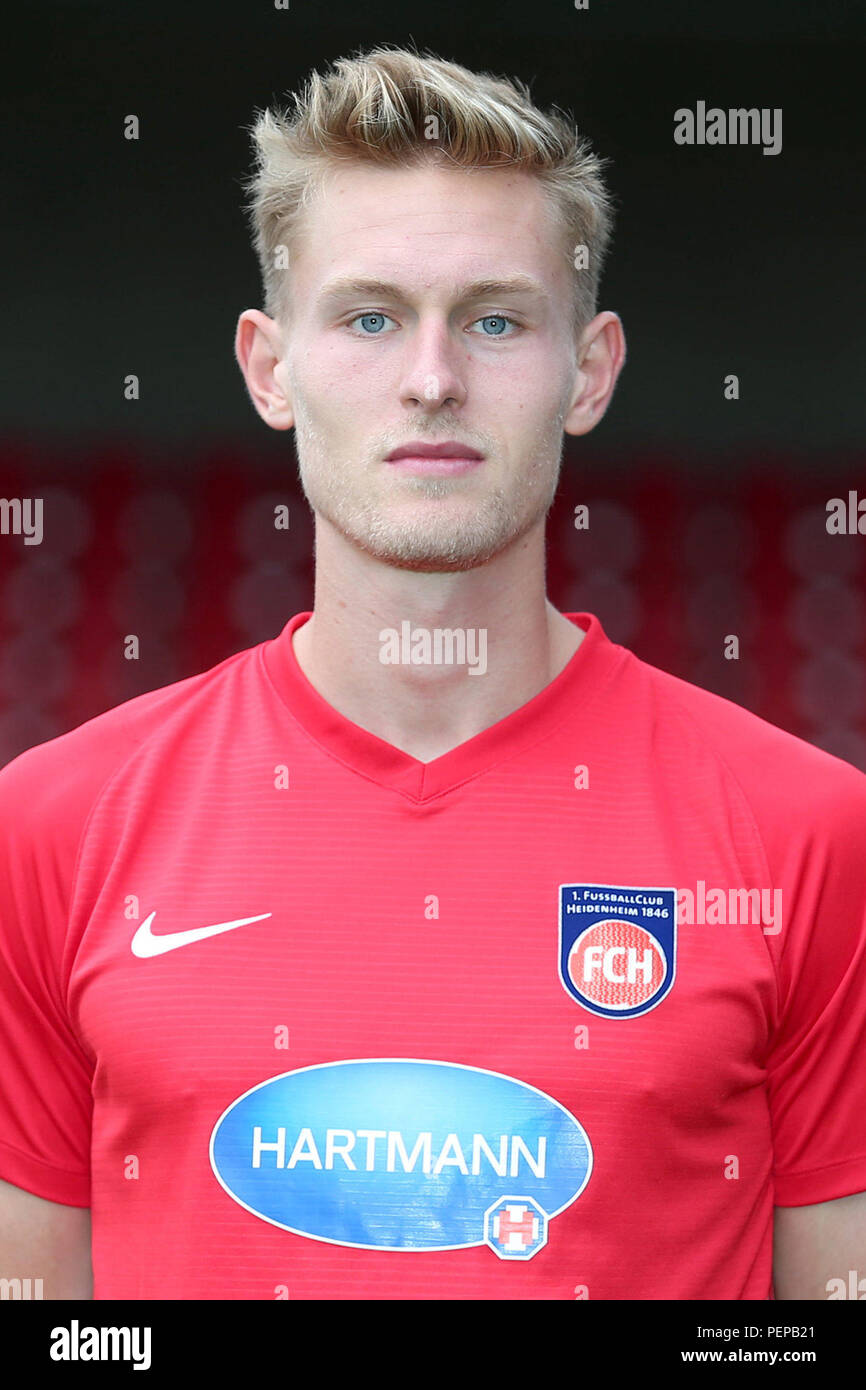 2nd German Bundesliga - Photocall FC Heidenheim - Season 2018/19 on 16 July 2018 in Heidenheim, Germany: Oliver Steurer. | usage worldwide Stock Photo
