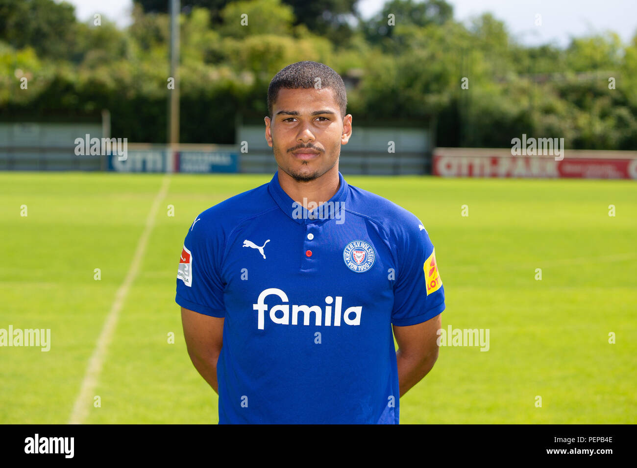 Kiel Germany 26th July 2018 2nd German Bundesliga Official Photocall Holstein Kiel For Season 2018 19 In Kiel Germany Noah Awuku Credit Frank Molter Dpa Usage Worldwide Dpa Alamy Live News Stock Photo Alamy