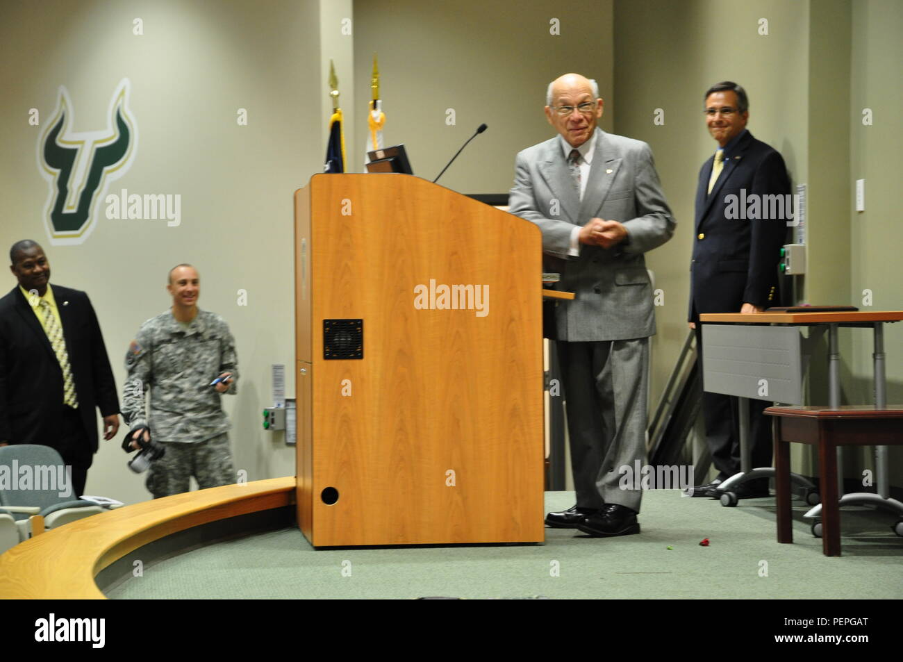 In a retirement ceremony held Jan  16, 2016, co-hosted by the U S
