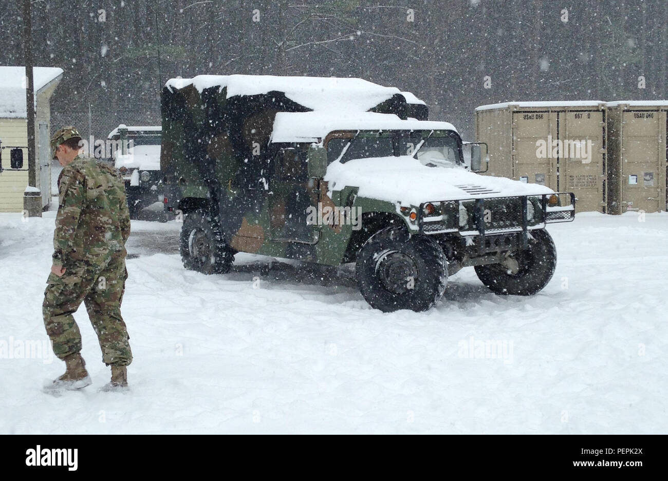 Virginia National Guard Soldiers assigned to units from the