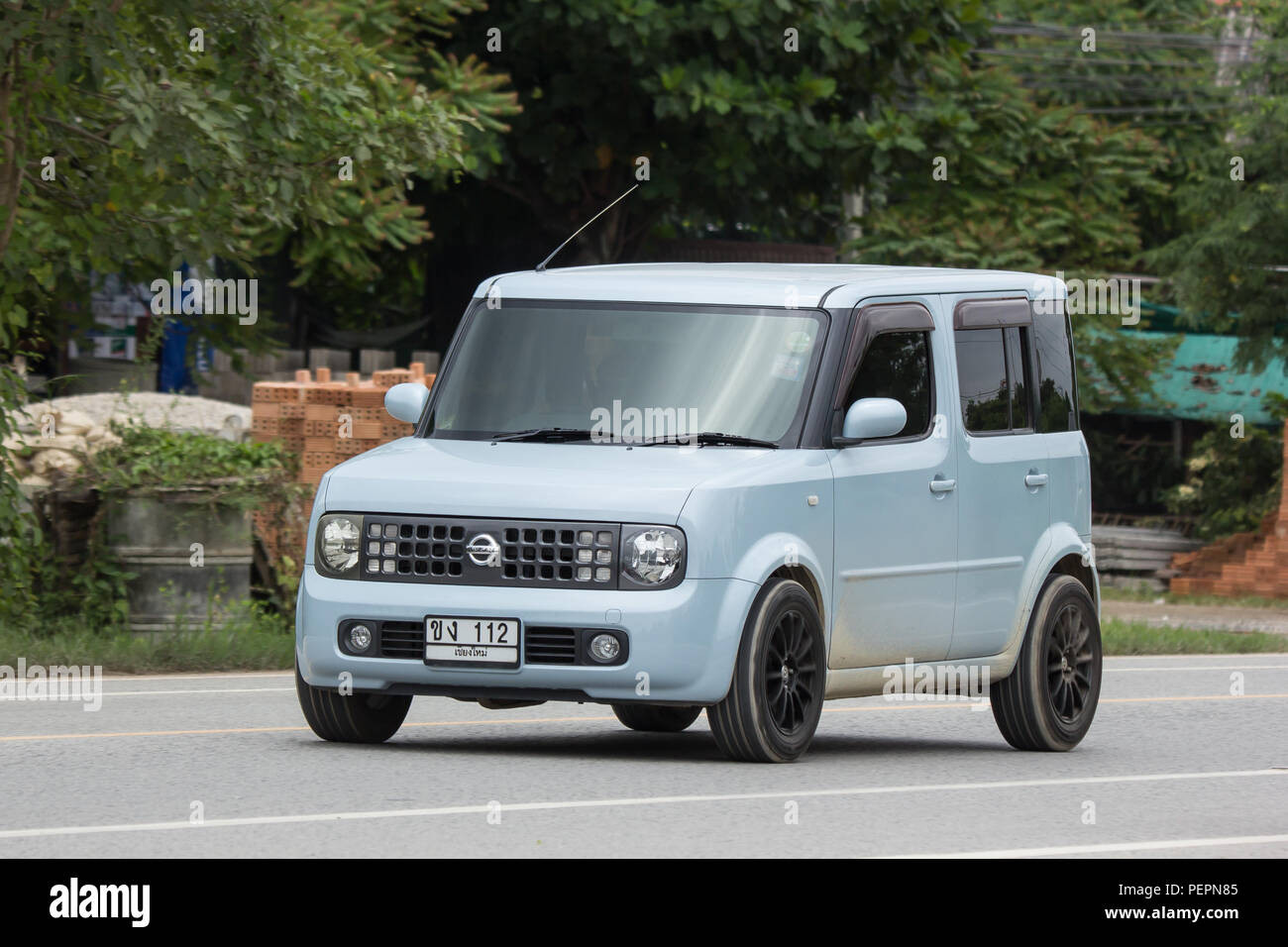 Chiangmai Thailand July 24 2018 Private Nissan Cube Mini Van On