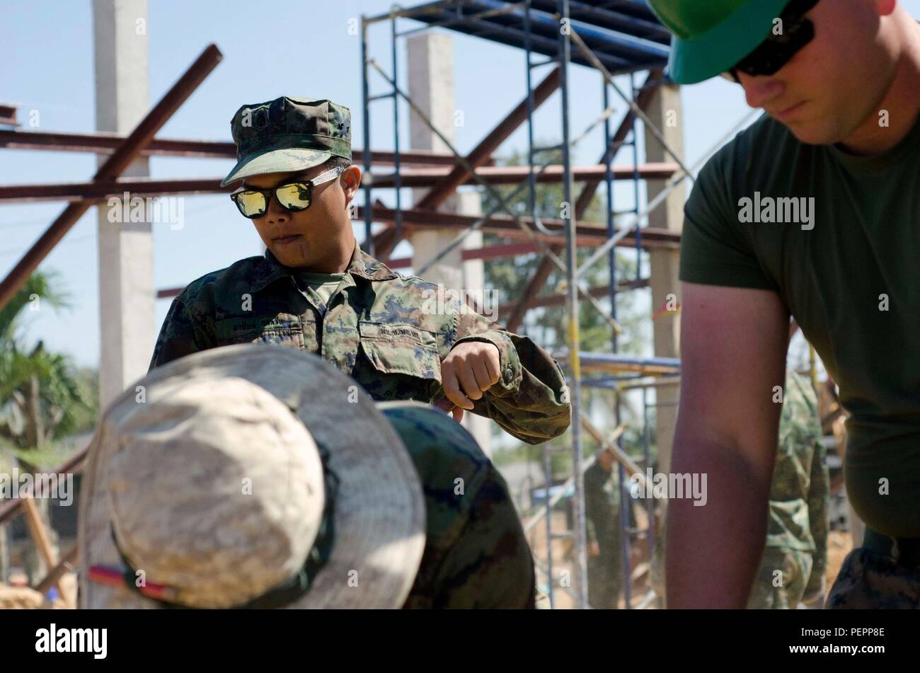Royal Thai Marine Corps Sgt PO1 Anant Yodwarn, with Engineer