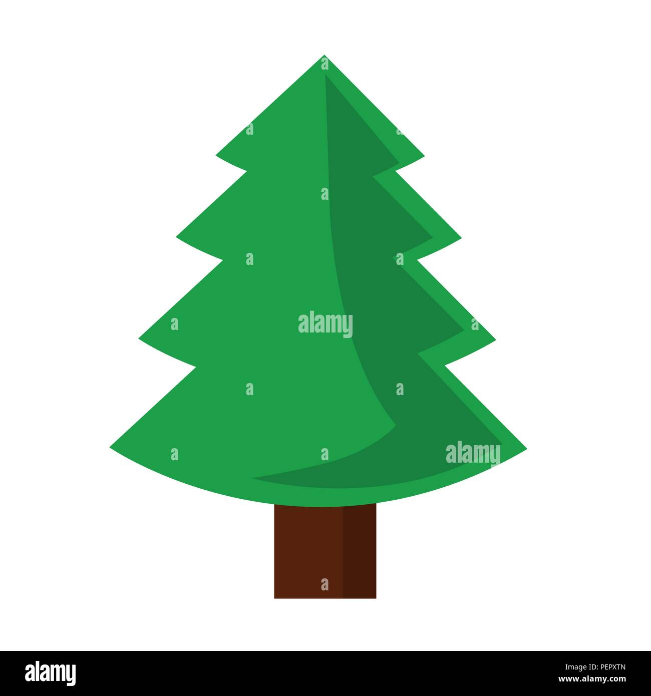 Christmas Tree Art.Green Simple Christmas Tree Vector Illustration Eps10 Stock