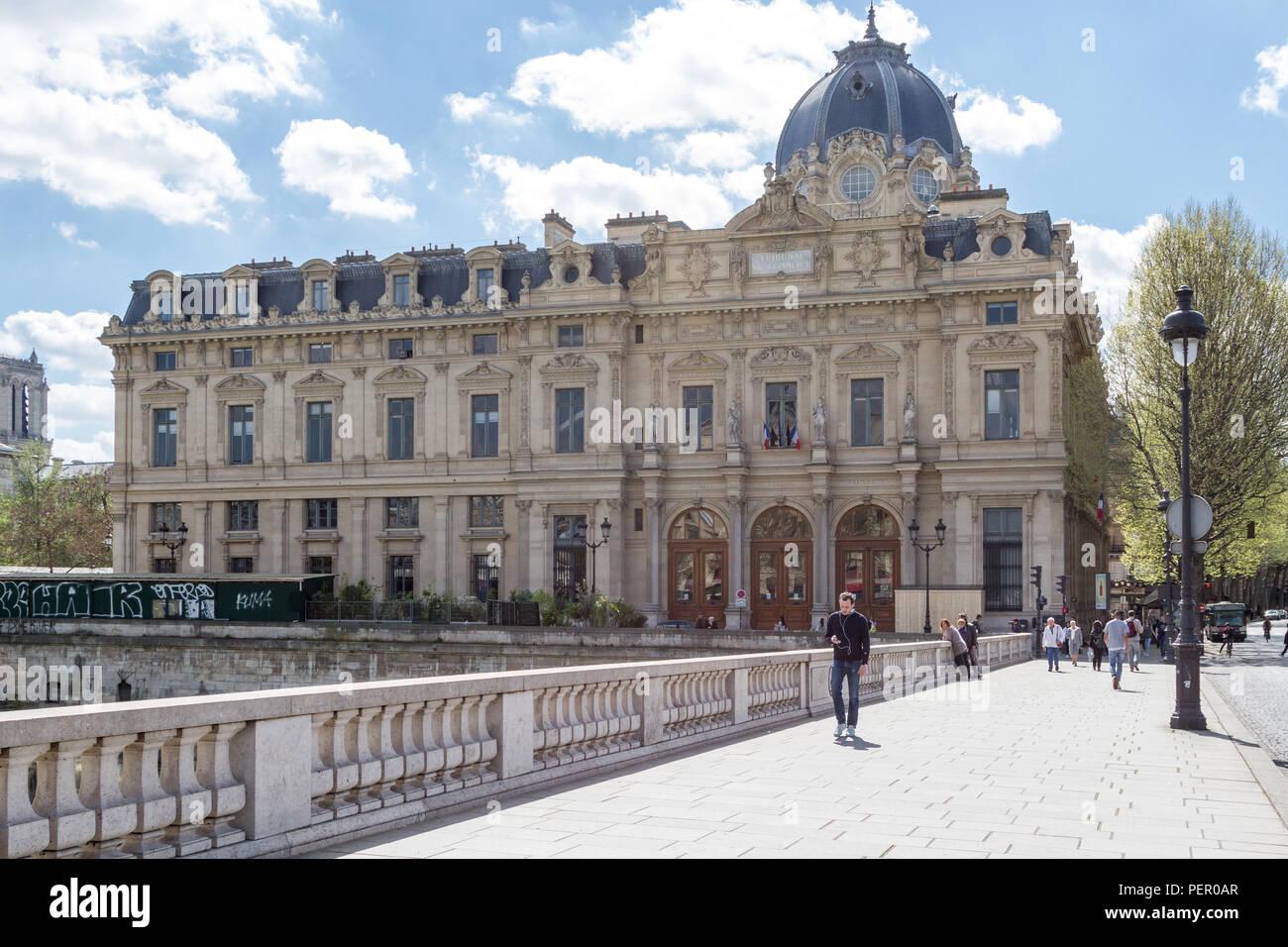 Tribunal de Commerce, Paris - France - Stock Image