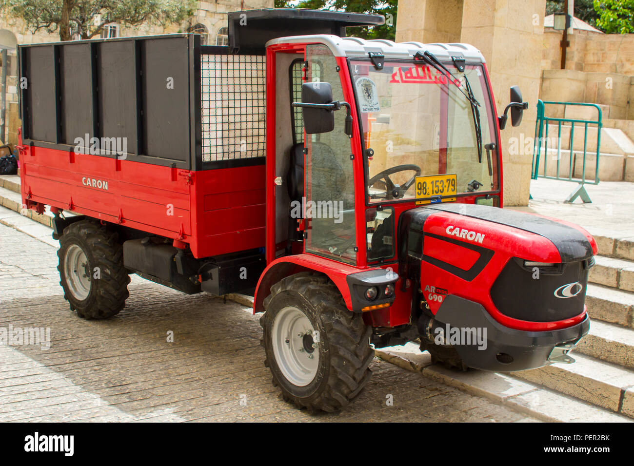 Small Tractor with Trailer