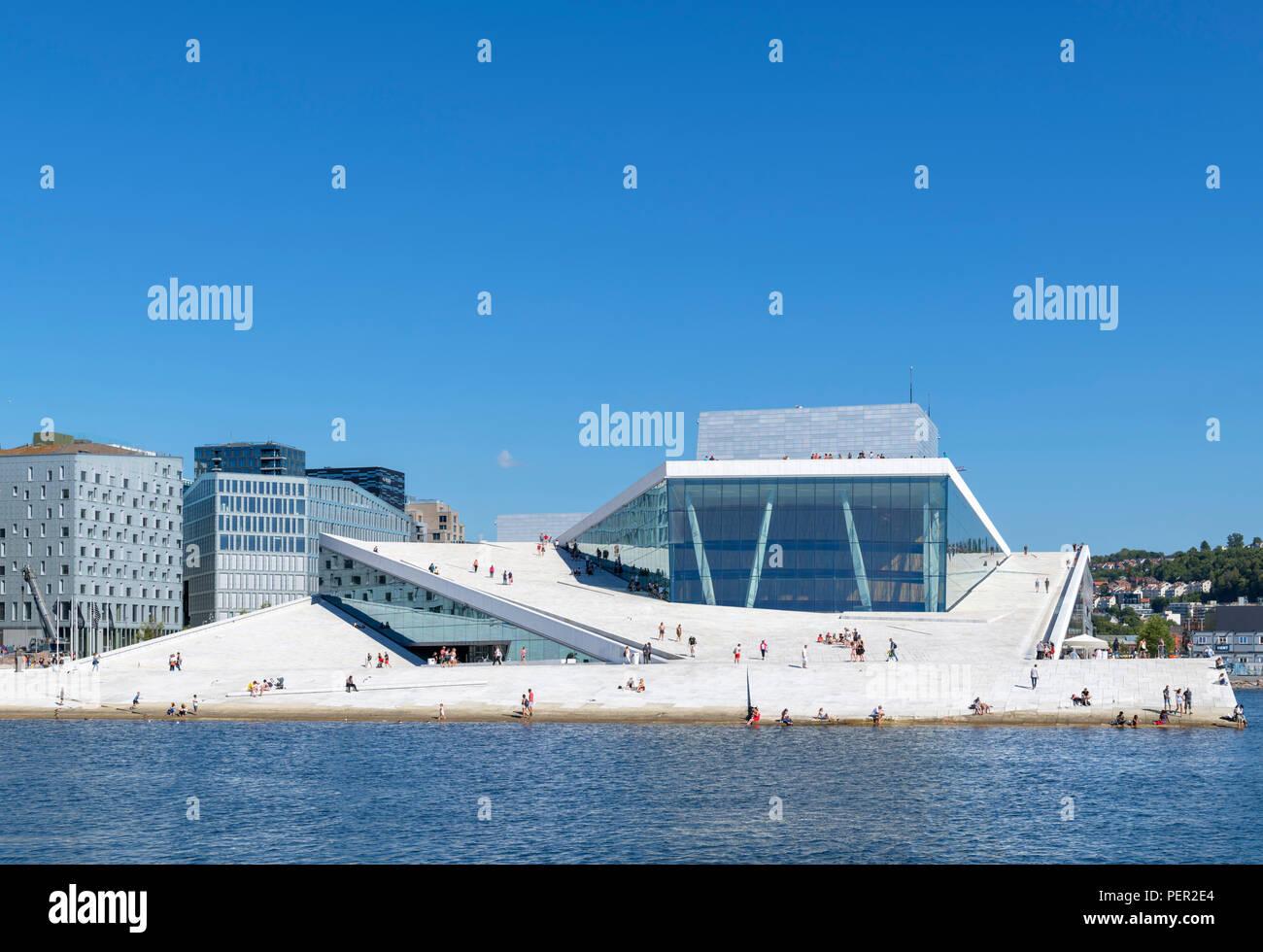 Oslo Opera House (Den Norske Opera & Ballett), Oslo, Norway - Stock Image