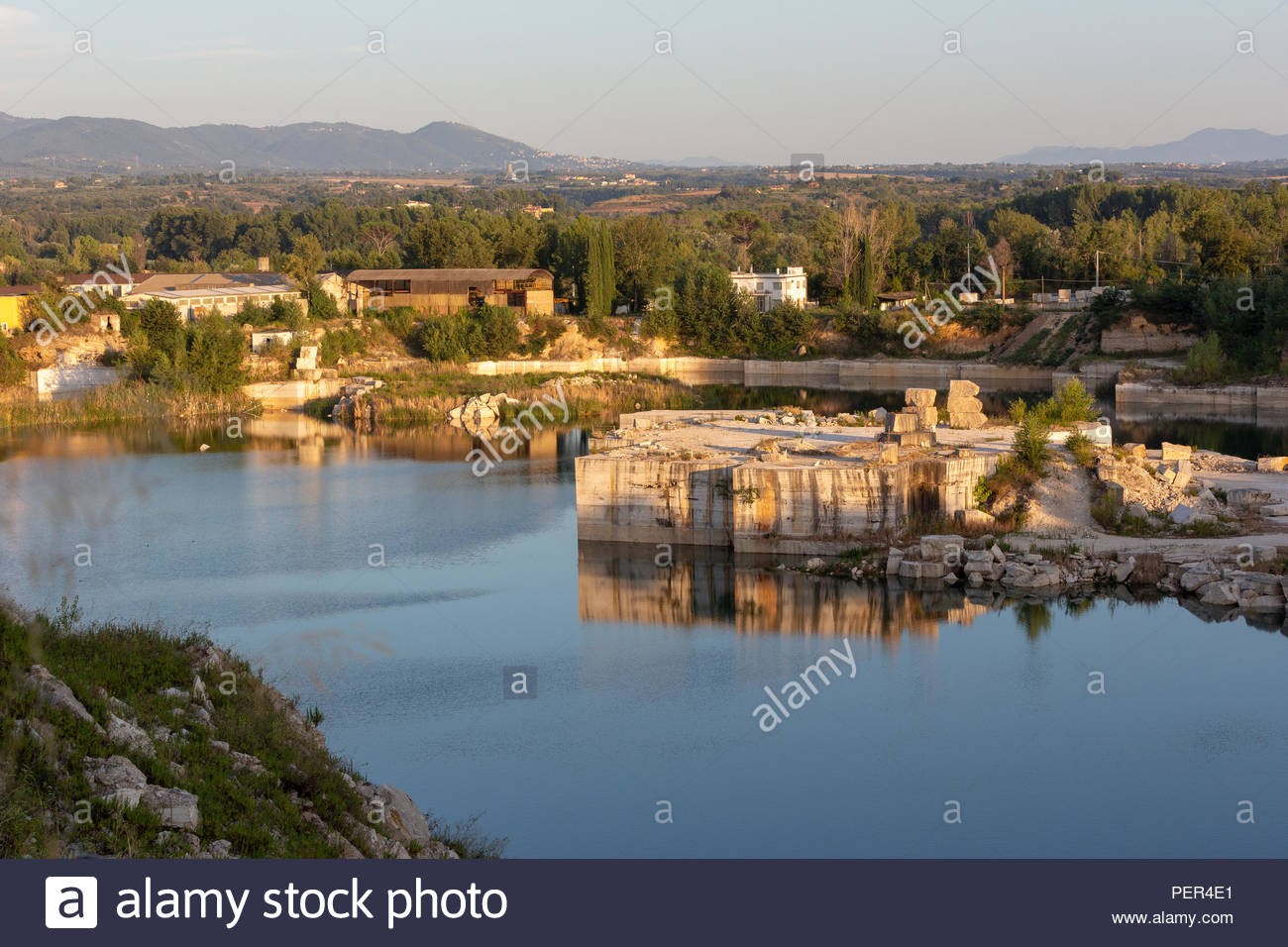 Concrete Island In Bagni Di Tivoli Italy Stock Photo 215638025 Alamy
