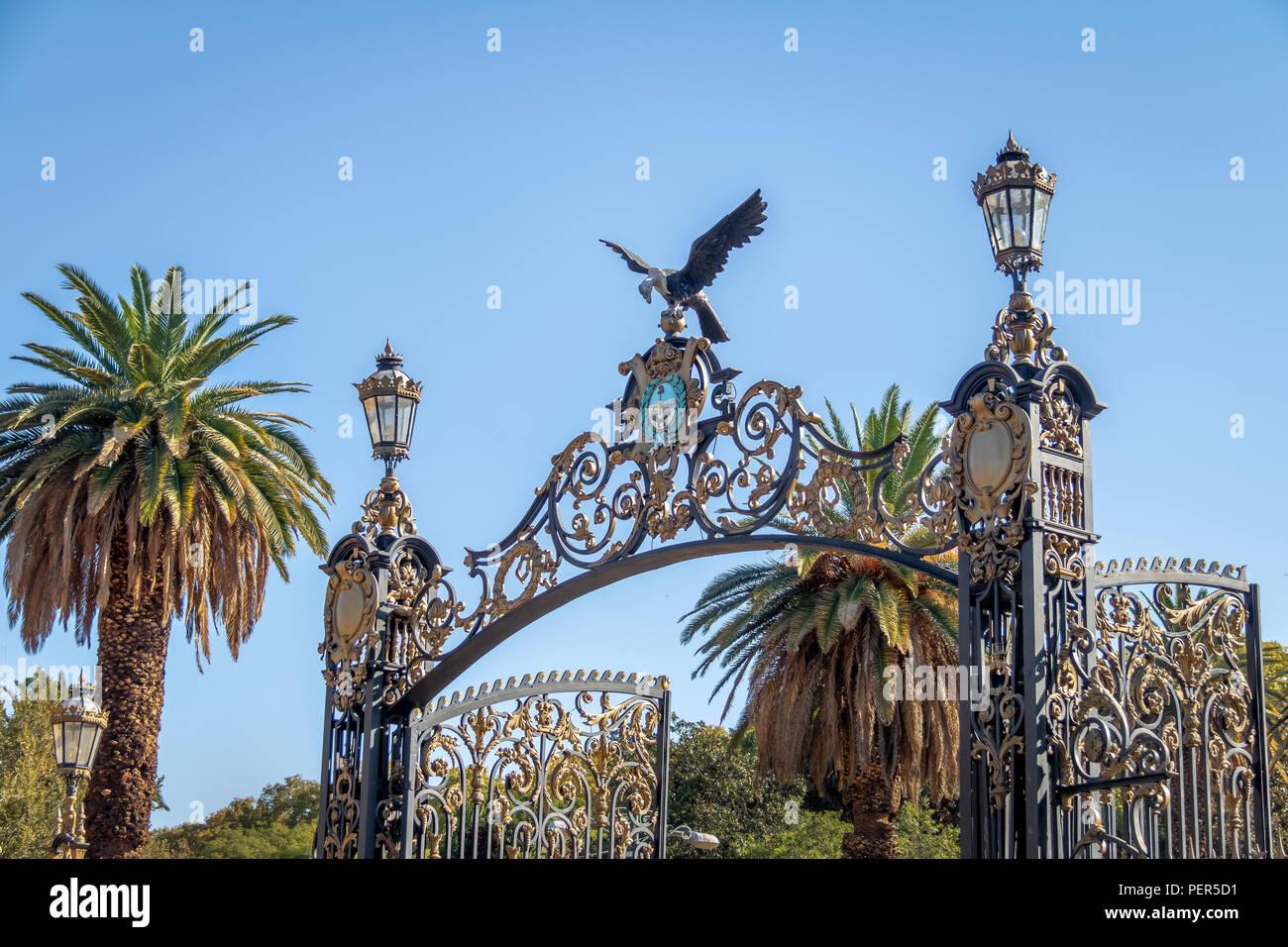 Park Gates (Portones del Parque) at General San Martin Park - Mendoza, Argentina - Stock Image