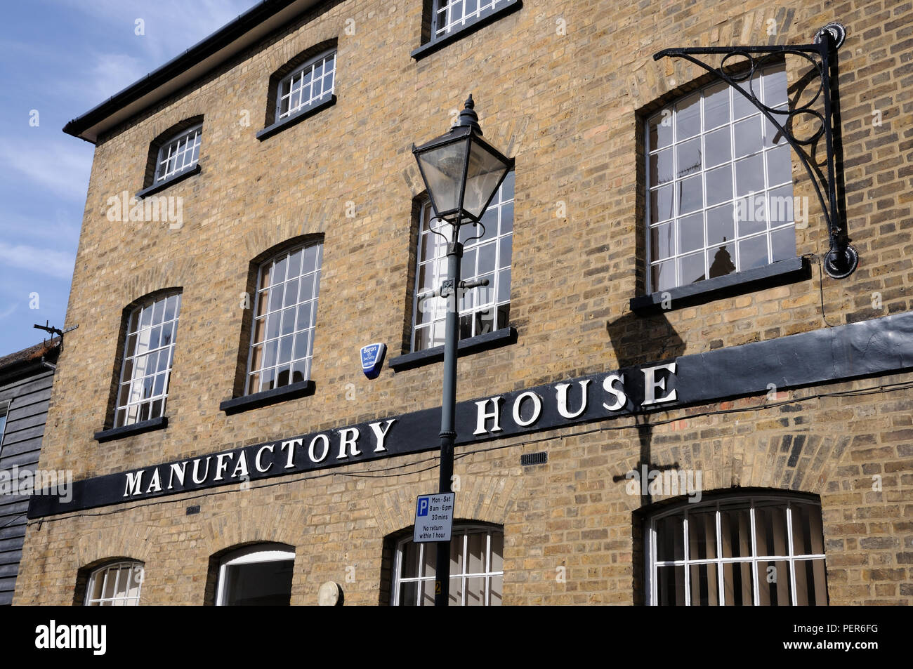 Manufactory House, Bell Lane,Hertford, Hertfordshire, dates to early 19th century - Stock Image